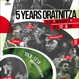5 Years Oratnitza! 12.12.2014 @ Mixtape 5