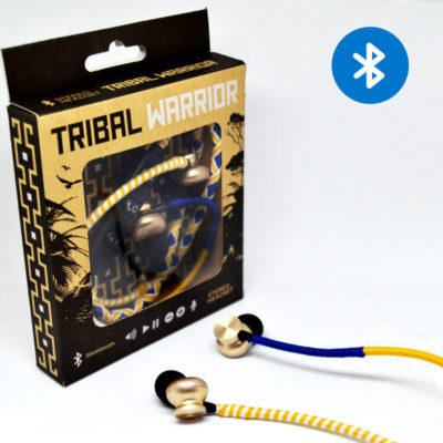 Tribal warrior – yellow/blue/white